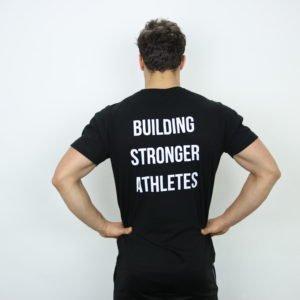 Mannen t-shirt met klein logo zwart