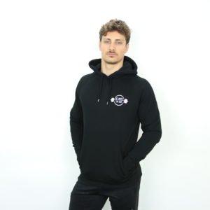 Mannen hoodie klein logo zwart