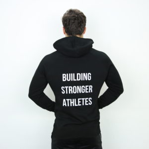 Mannen hoodie groot logo zwart